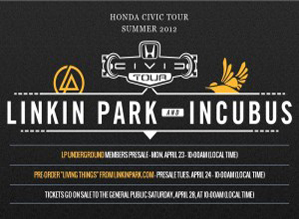 Linkin Park and Incubus Headline Honda Civic Tour 2012