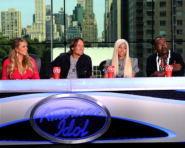 Nicki Minaj and Mariah Carey Feud @ American Idol Taping